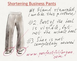 shortening pants